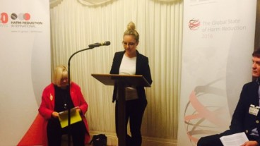 The report's author, Katie Stone, speaking at its official launch in London