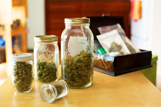 A medical cannabis patient's supply of medicine in their home