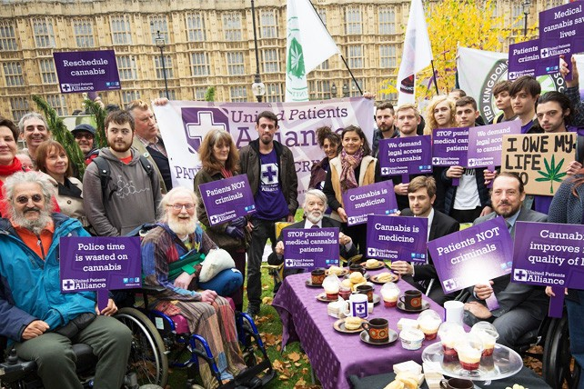A demonstration with the United Patients Alliance and Paul Flynn MP at Parliament