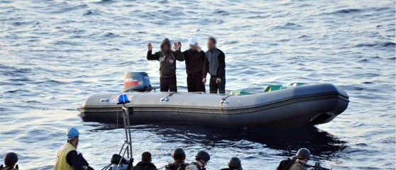 Law enforcement stopping suspected drug traffickers in the Mediterranean