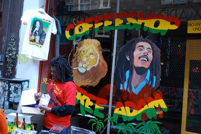 The sale of small quantities of cannabis in coffeeshops is tolerated in Netherlands, but the shops are supplied by the illegal market