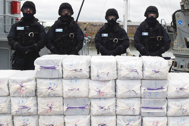One tonne of cocaine seized from a Caribbean vessel