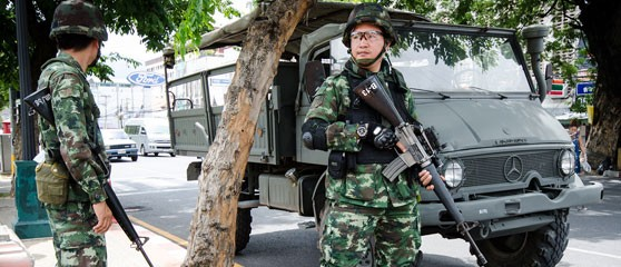 Thai soldiers in the northern province of Chiang Mai