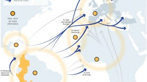 The routes of cocaine