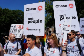 Chase the virus not people campaign
