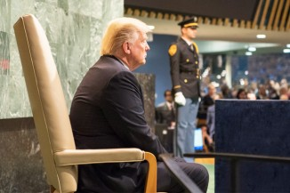 Donald Trump Waits to Address General Assembly