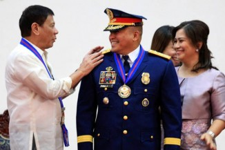 President Rodrigo Duterte and Ronald Dela Rosa