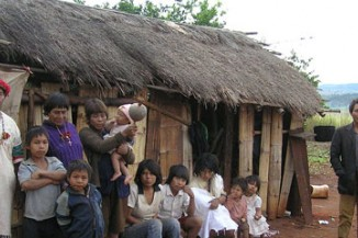 Members of the Paï-Tavytera community in the Amambay department, eastern Paraguay.