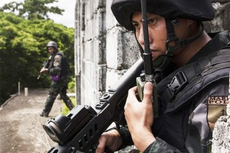A member of the Philippine National Police